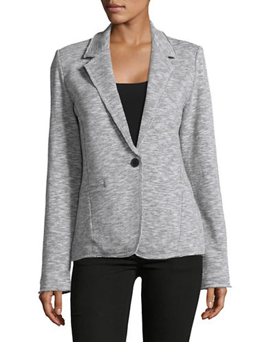 Tommy Hilfiger Heathered Blazer-GREY-X-Small
