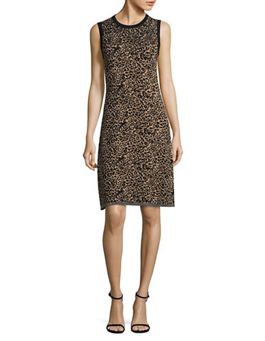 Tommy Hilfiger Leopard Sleeveless Dress-MULTI-Medium