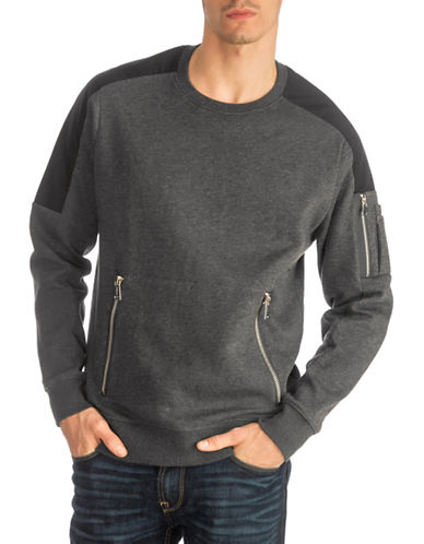 Guess Roy Paneled Sweatshirt-GREY-Large 89727923_GREY_Large