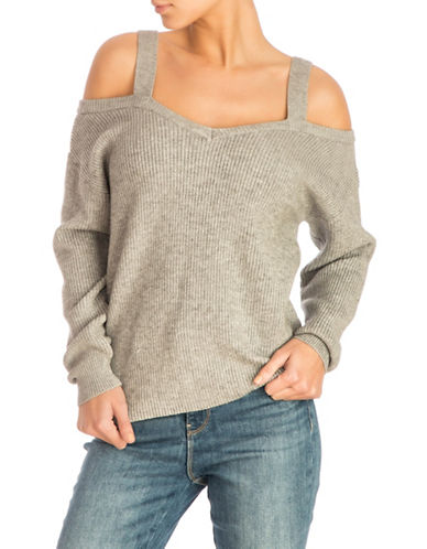 Guess Britta Cold-Shoulder Sweater-MEDIUM GREY-X-Small