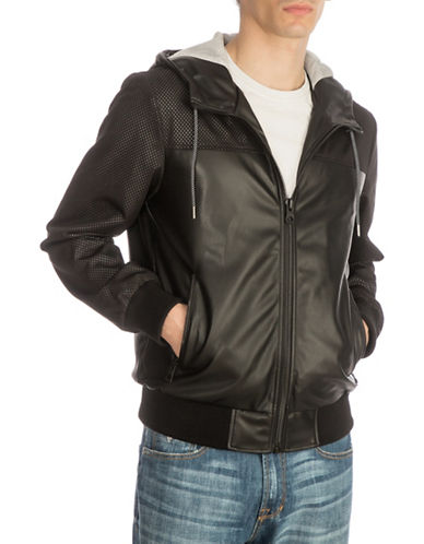 Guess Miguel Hooded Jacket-BLACK-X-Large 89876994_BLACK_X-Large