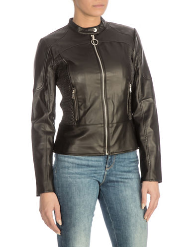 Guess Delaney Moto Jacket-BLACK-Medium 89917305_BLACK_Medium