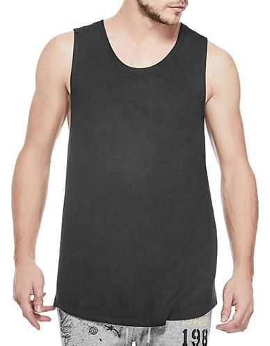 Guess Max Longline Tank Top-BLACK-Medium 90072353_BLACK_Medium