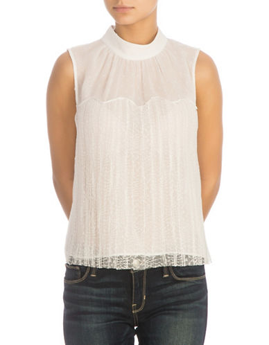 Guess Lace Neisha Top-WHITE-X-Large 89917364_WHITE_X-Large