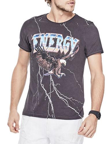 Guess Energy Crew T-Shirt-DARK GREY-XX-Large 89955577_DARK GREY_XX-Large