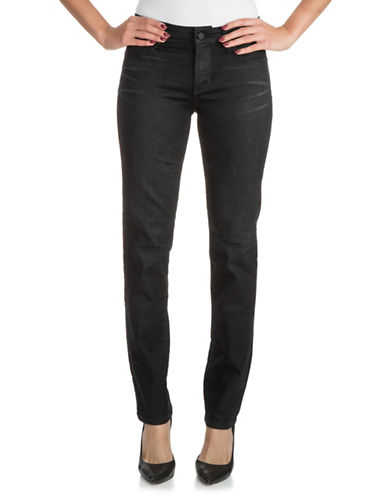 Guess Curve-X Whiskered Straight Jeans-BLACK-31