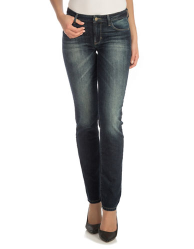 Guess Curve-X Washed Straight Jeans-BLUE-28