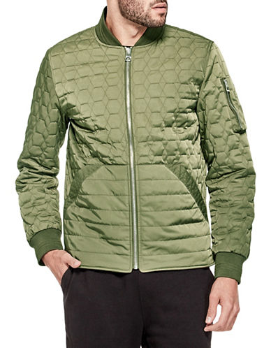 Guess Joel Quilted Bomber Jacket-GREEN-Small 89876983_GREEN_Small