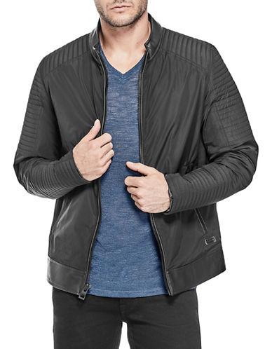 Guess Philip Moto Jacket-BLACK-X-Large 89955556_BLACK_X-Large