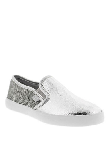 G By Guess Womens Malden 7 Slip-On Sneakers-SILVER-9