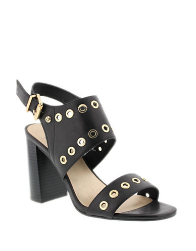 G By Guess Deluxe Ankle-Strap Sandals-BLACK-7.5
