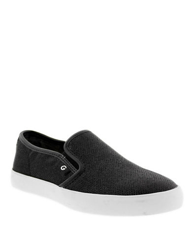 G By Guess Womens Malden 8 Slip-On Sneakers-BLACK-6.5