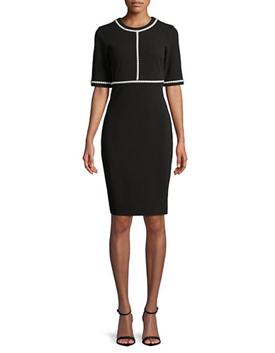 Faux Pearl Trimmed Dress by Karl Lagerfeld Paris