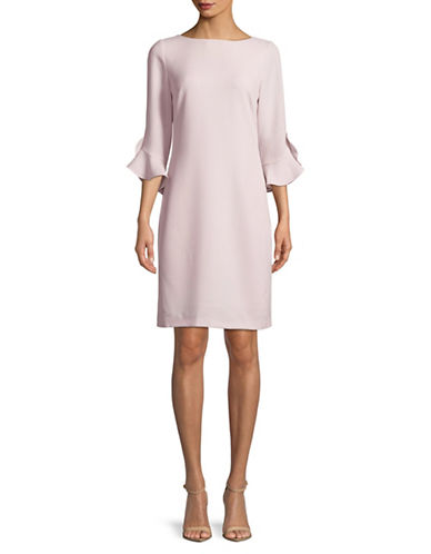 Karl Lagerfeld Paris Tulip Cuff Dress-PINK-4