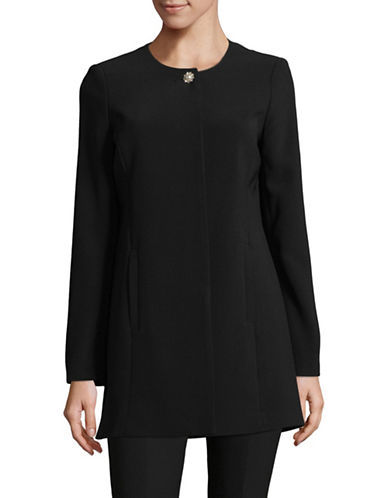 Karl Lagerfeld Paris One-Button Topper-BLACK-4