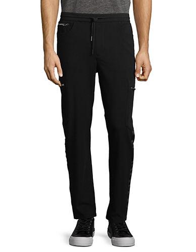 Karl Lagerfeld Drawstring Cargo Pants-BLACK-Large 89858025_BLACK_Large