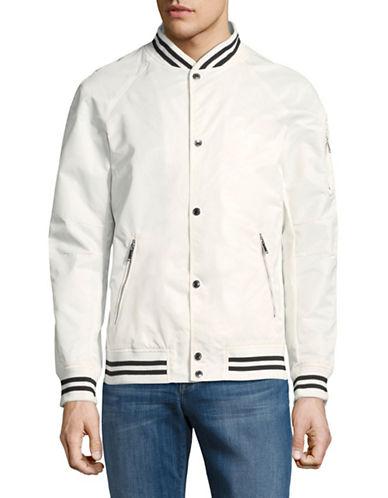 Karl Lagerfeld Raglan-Sleeve Bomber Jacket-WHITE-Large 89866876_WHITE_Large