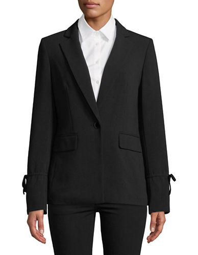 Karl Lagerfeld Paris Tie Sleeve Blazer-BLACK-8