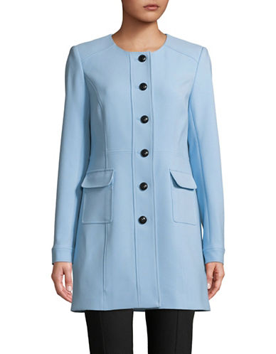 Karl Lagerfeld Paris Long-Sleeve Topper-BLUE-4
