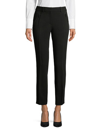 Karl Lagerfeld Paris Double Weave Pants-BLACK-16