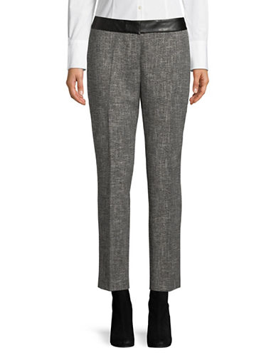 Karl Lagerfeld Paris Tweed Dress Pants-GREY-10