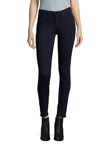 Karl Lagerfeld Paris Skinny Cropped Denim-BLACK-16