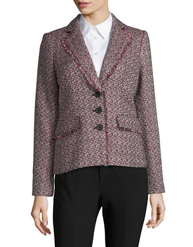 Karl Lagerfeld Paris Multi Tweed Jacket-RED-8