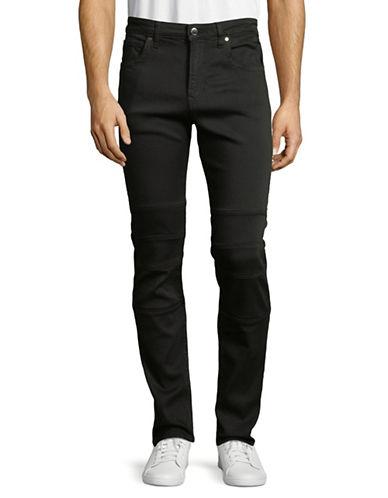Karl Lagerfeld Classic Moto Jeans-BLACK-36