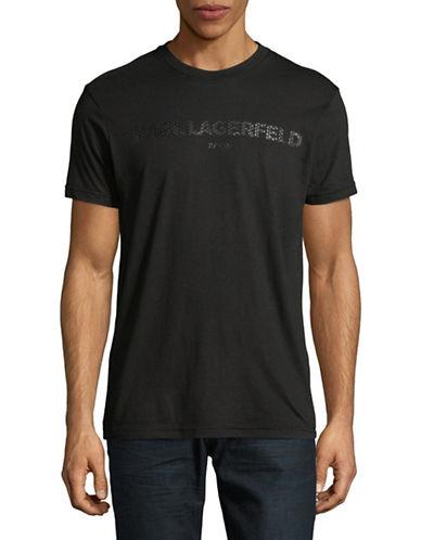 Karl Lagerfeld Logo Crew Tee-BLACK-Medium