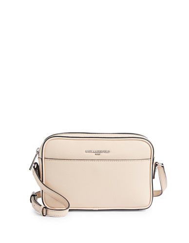 Karl Lagerfeld Paris Winnie Leather Camera Bag-BEIGE-One Size