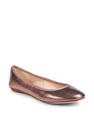 Karl Lagerfeld Paris Textured Metallic Flat-PINK-9.5