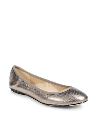Karl Lagerfeld Paris Textured Metallic Flat-GUNMETAL-7