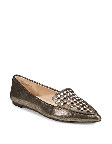Karl Lagerfeld Paris Devan Pointed Flats-BRONZE-8.5