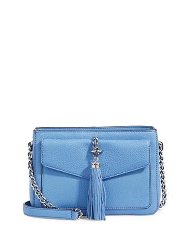 Karl Lagerfeld Paris Tess Tassle Crossbody Bag-PERIWINKLE-One Size