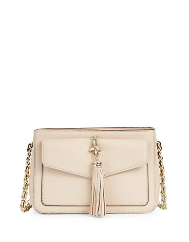 Karl Lagerfeld Paris Tess Tassle Crossbody Bag-BEIGE-One Size