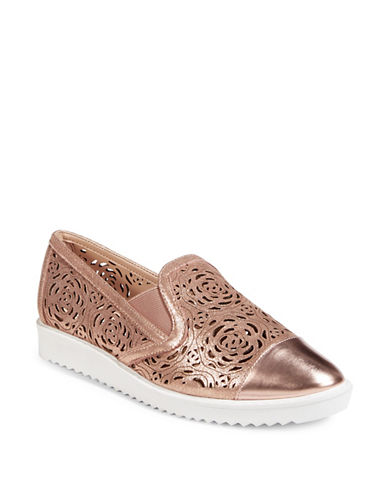 Karl Lagerfeld Paris Cora Platform Sneakers-ROSE GOLD-7.5