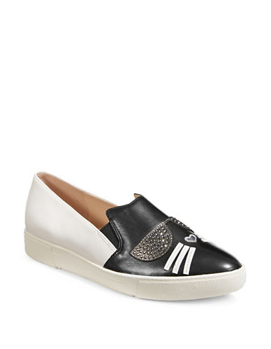 Karl Lagerfeld Paris Avery Slip-On Sneakers-BLACK/WHITE-10