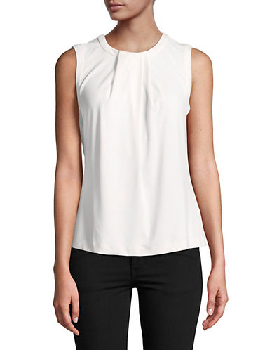 Karl Lagerfeld Paris Foldover Camisole-WHITE-X-Large