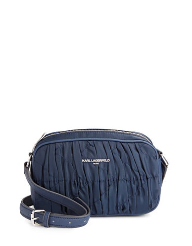 Karl Lagerfeld Paris Kourtney Crossbody Bag-NAVY-One Size