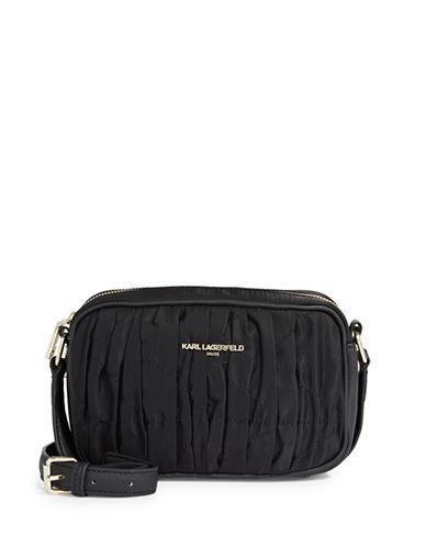 Karl Lagerfeld Paris Kourtney Crossbody Bag-BLACK-One Size