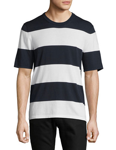 Michael Kors Short Sleeve Bold Stripe Tee-BLUE-Large 89891966_BLUE_Large