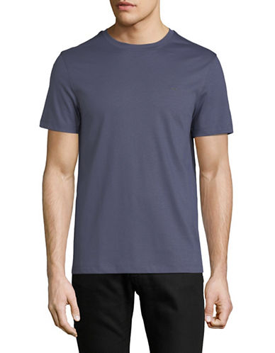 Michael Kors Sleek Crew Neck Cotton T-Shirt-BLUE-Small 89891898_BLUE_Small
