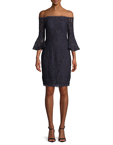 Adrianna Papell Lace Off-The-Shoulder Sheath Dress 89906552