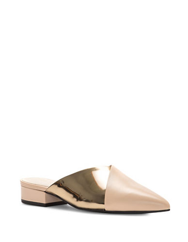 Cole Haan Cosette Skimmer Leather Mules-NUDE-8.5