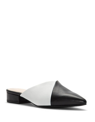 Cole Haan Cosette Skimmer Leather Mules-BLACK/WHITE-7.5