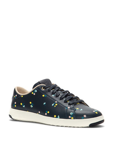 Cole Haan Grand Pro Leather Tennis Sneakers-BLUE-8.5