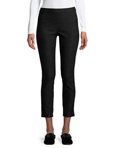 H Halston Pull-On Slim Pants-BLACK-14