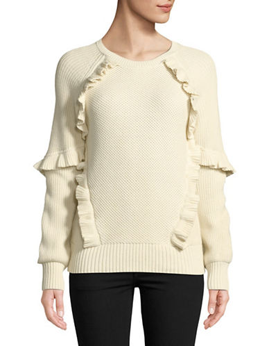 Highline Collective Ruffle Raglan Pullover-CREAM-X-Small