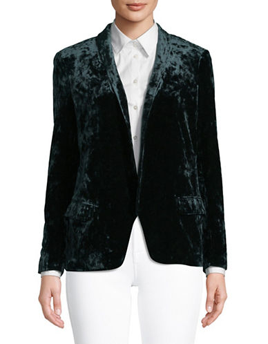 Highline Collective Velvet Easy Blazer With Shawl Collar-GREEN-6
