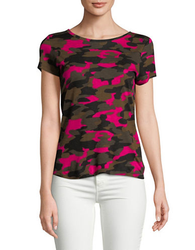 Highline Collective Camouflage Round Neck Tee-PINK CAMO-X-Large